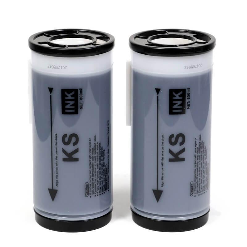 Tinta Compatível Lotus Preto p/ Duplicador Riso KS500 - 2 un