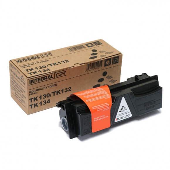 Toner Compatível Integral TK130 p/ Kyocera s/chip - 7.2k (Kit c/4)