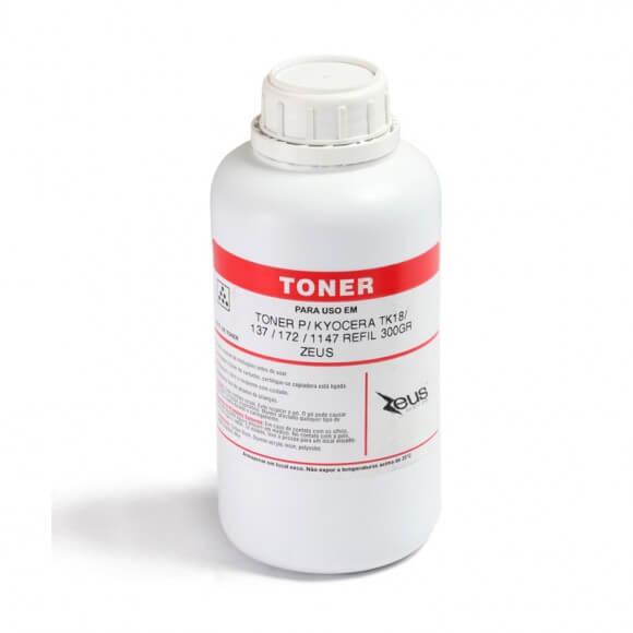 Refil de Toner Compatível Zeus TK18 TK1147 p/ Kyocera - 300g