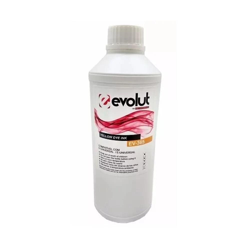 Tinta Evolut para Hp e Epson Et365 Yellow 1 Litro