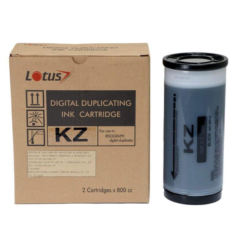 Tinta Lotus KZ 30 Preto para Duplicador Digital Riso 800ML