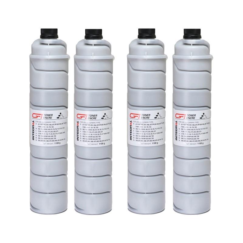 Toner Compatível Integral BK p/ Ricoh AF1075 - 43k (Kit c/4)