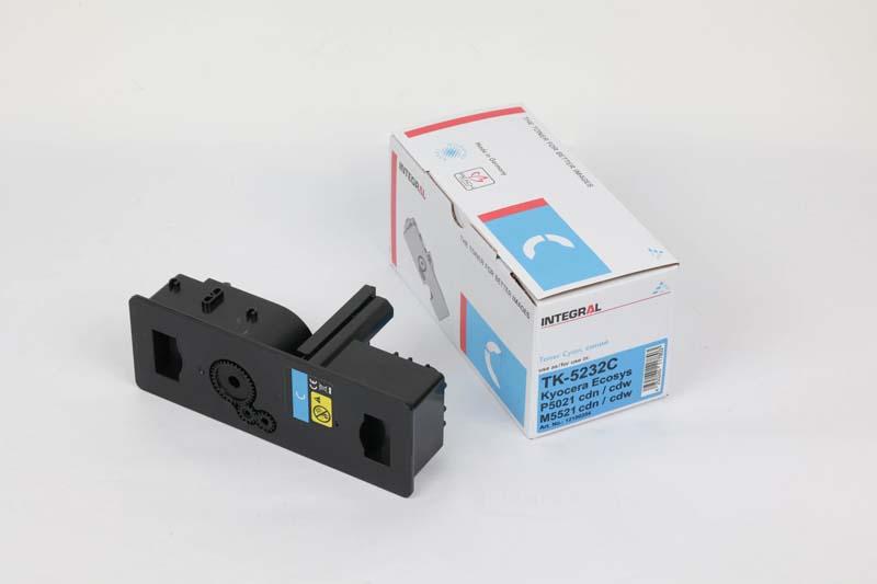 Toner Compatível Integral TK5232 Cyan p/ Kyocera c/chip - 2.2k
