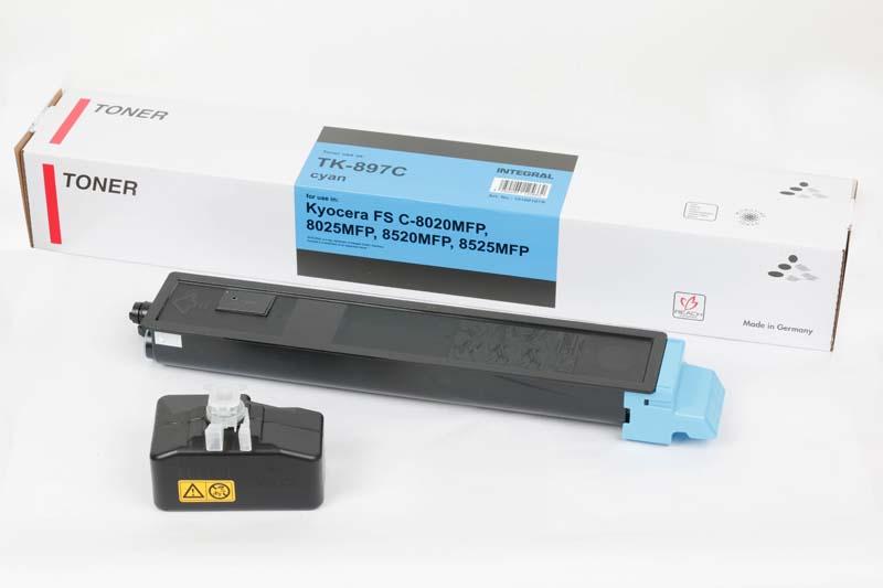 Toner Compatível Integral TK897 Cyan p/ Kyocera - 6k