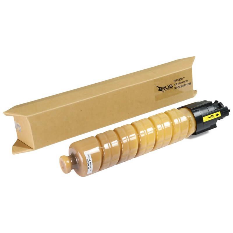 Toner Compatível Zeus Yellow p/ Ricoh SP C430 c/chip - 21k