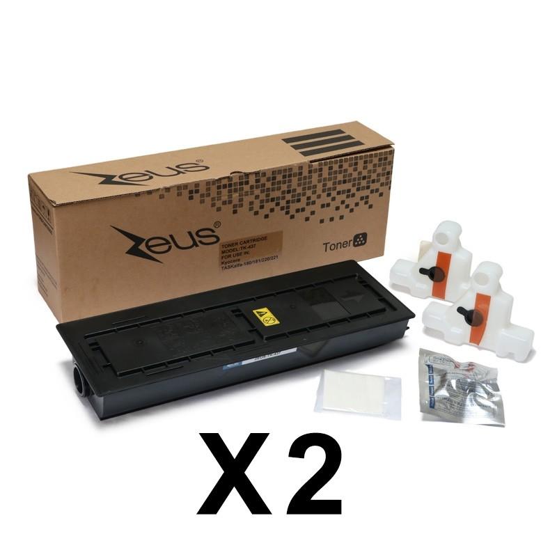 Toner Compatível Zeus TK437 p/ Kyocera c/chip -23k (Kit c/2)