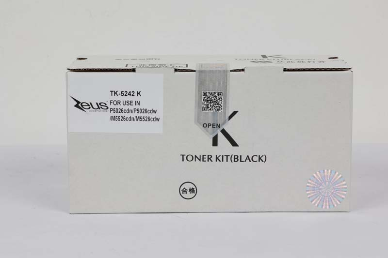 Toner Compatível Zeus TK5242 Black p/ Kyocera c/chip - 4k