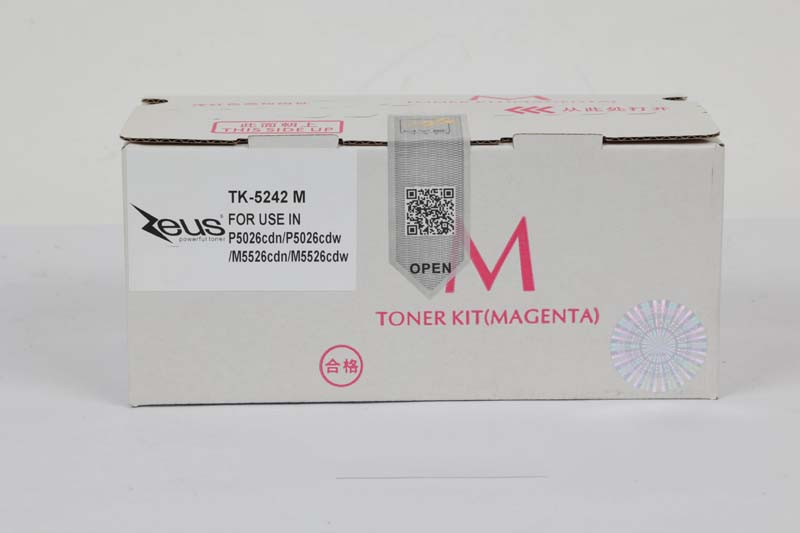 Toner Compatível Zeus TK5242 Magenta p/ Kyocera c/chip - 3k
