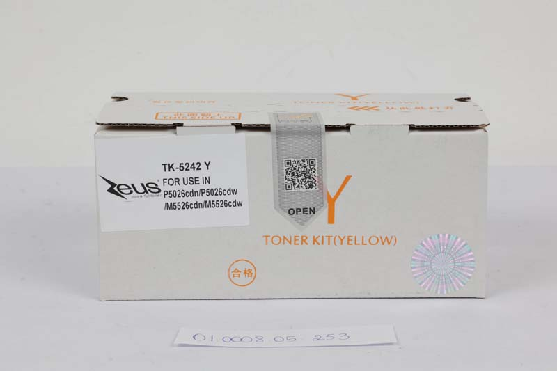 Toner Compatível Zeus TK5242 Yellow p/ Kyocera c/chip - 3k