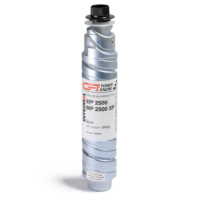 Toner Integral Preto para Ricoh Afício MP 2500 MP 2500SP MP 2500SPF