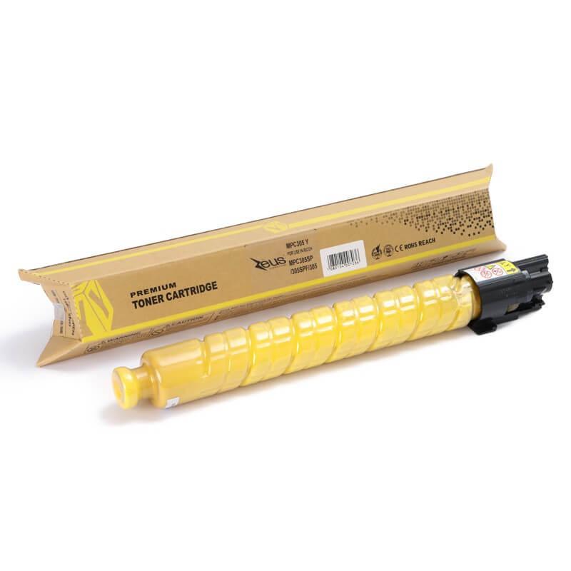Toner Compatível Zeus Yellow p/ Ricoh MPC305 SP c/chip - 4K