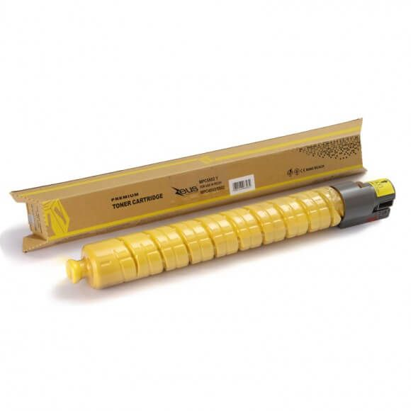 Toner Compatível Zeus Amarelo p/ Ricoh MPC4502 c/chip -22.5k