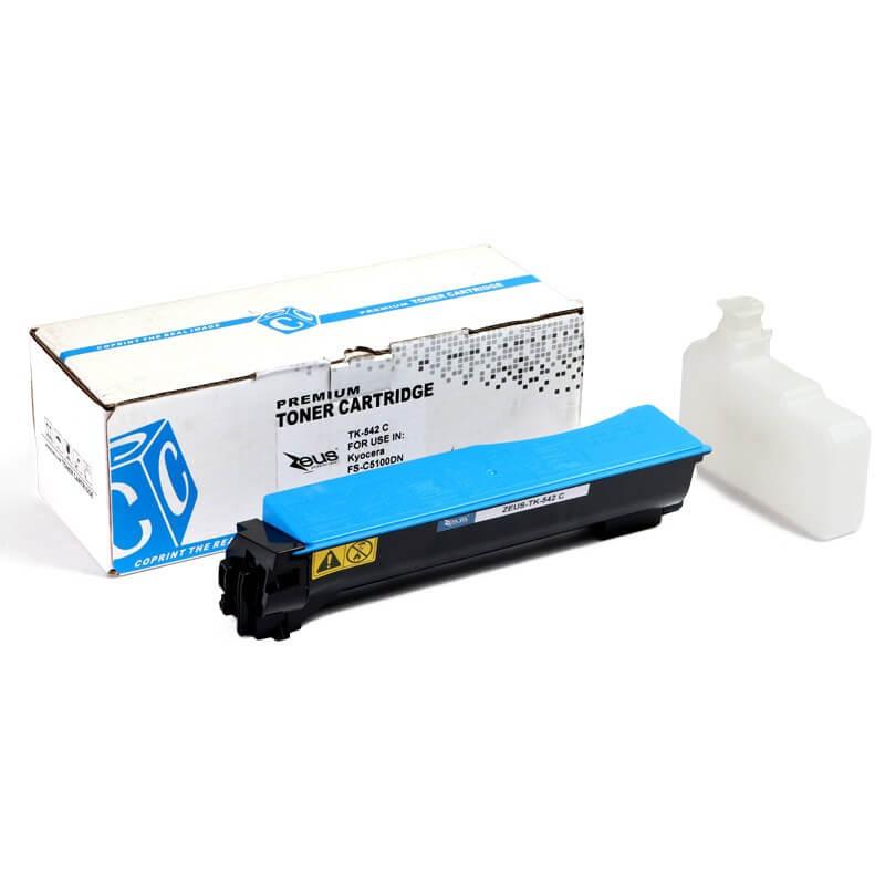 Toner Compatível Zeus TK542 Ciano P/ Kyocera FSC5100