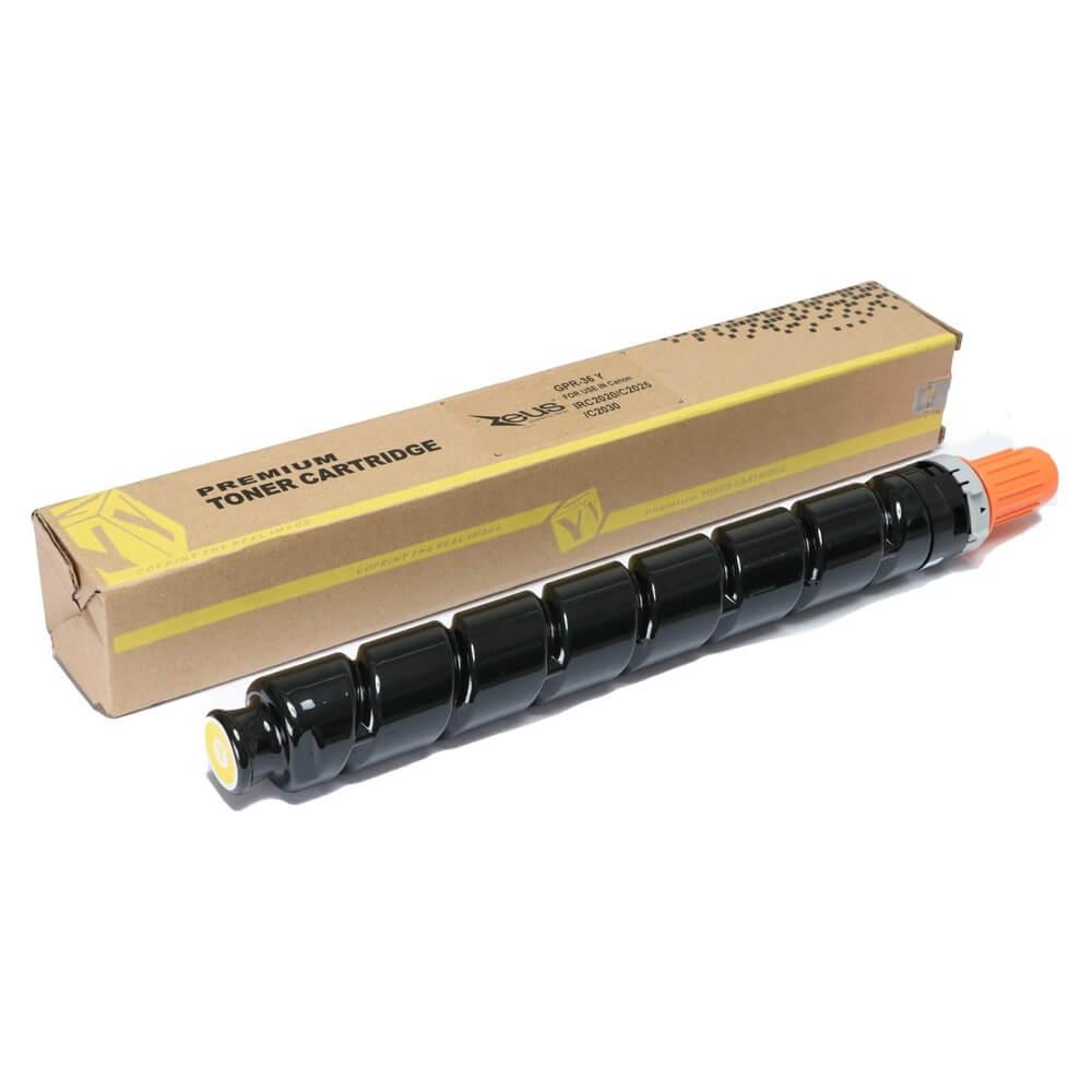 Toner Compatível Zeus GPR-36 Amarelo p/ Canon C2020 2030
