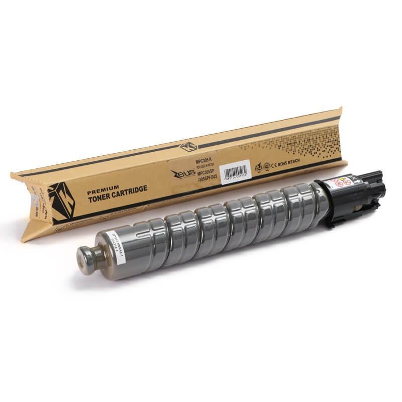 Toner Compatível Zeus Black p/ Ricoh MPC305 c/chip - 12k