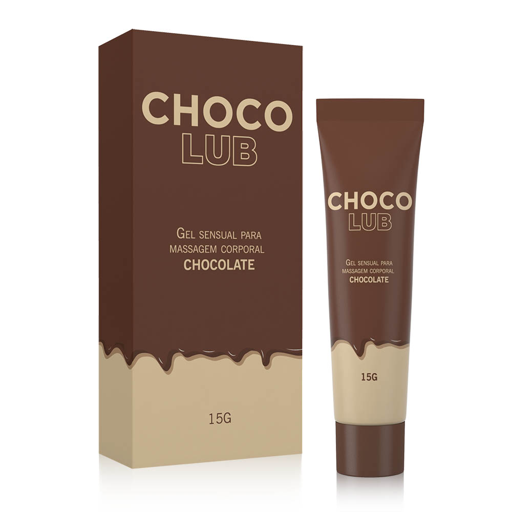 Gel Sensual Lubrificante Beijável Chocolub Chocolate 15 g | A Sós