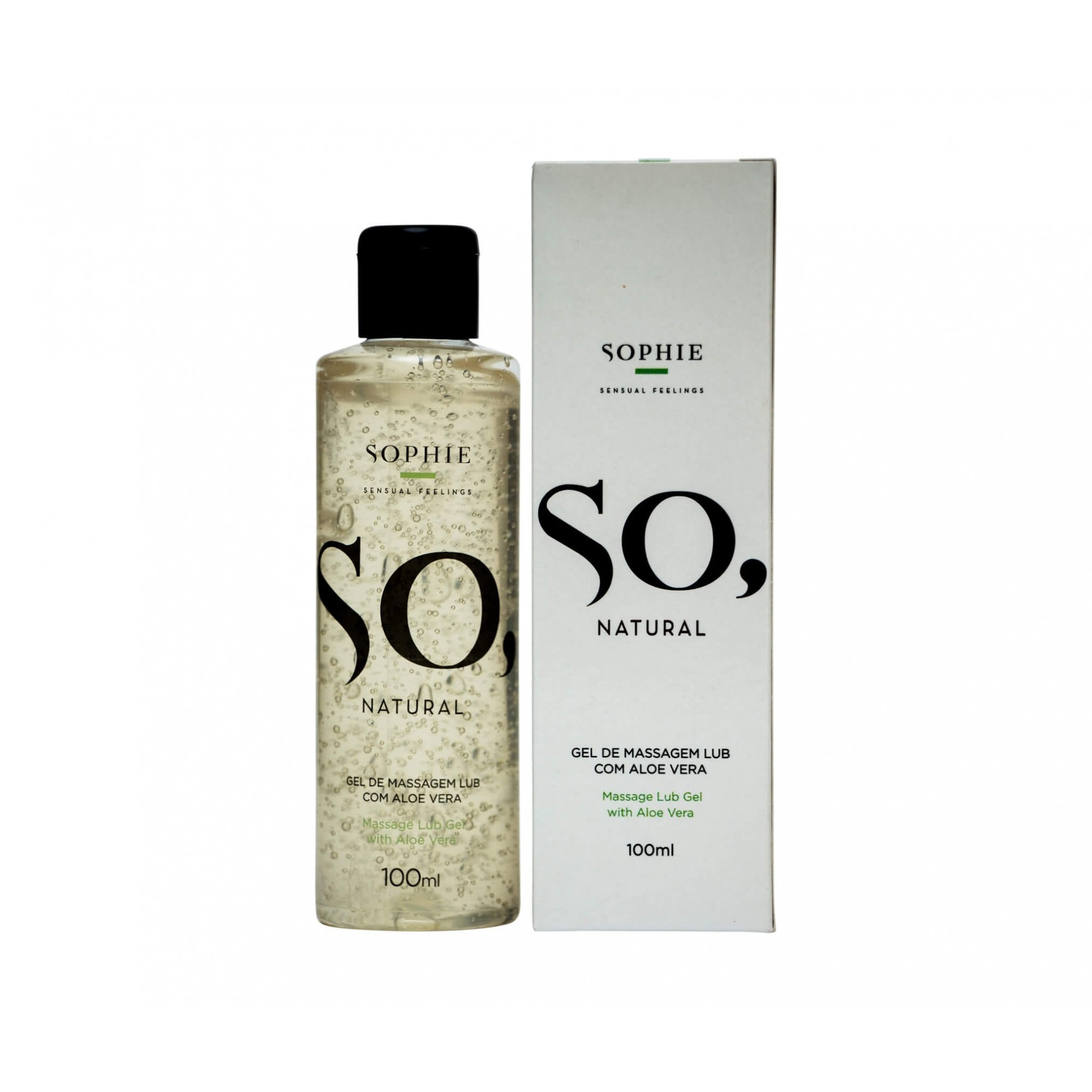 Sophie So, Natural - Gel Lubrificante Com Aloe Vera - 100ml