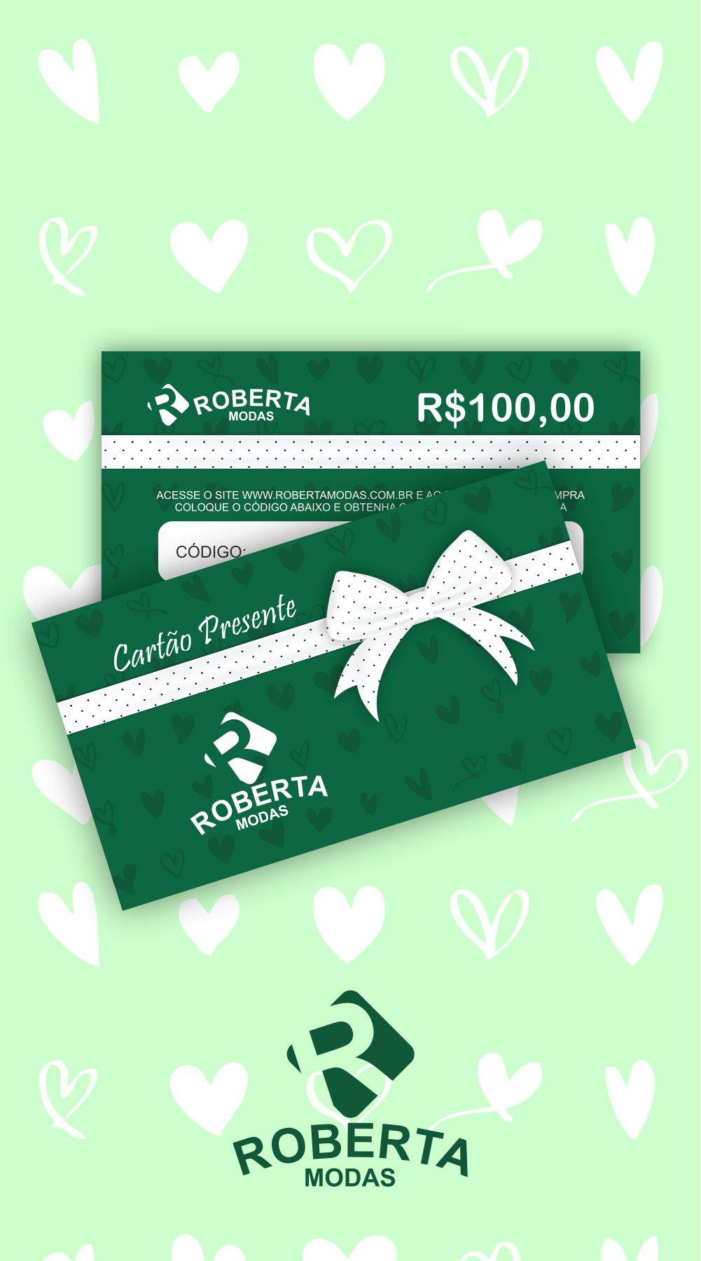 Cartão Presente Valor R$100,00