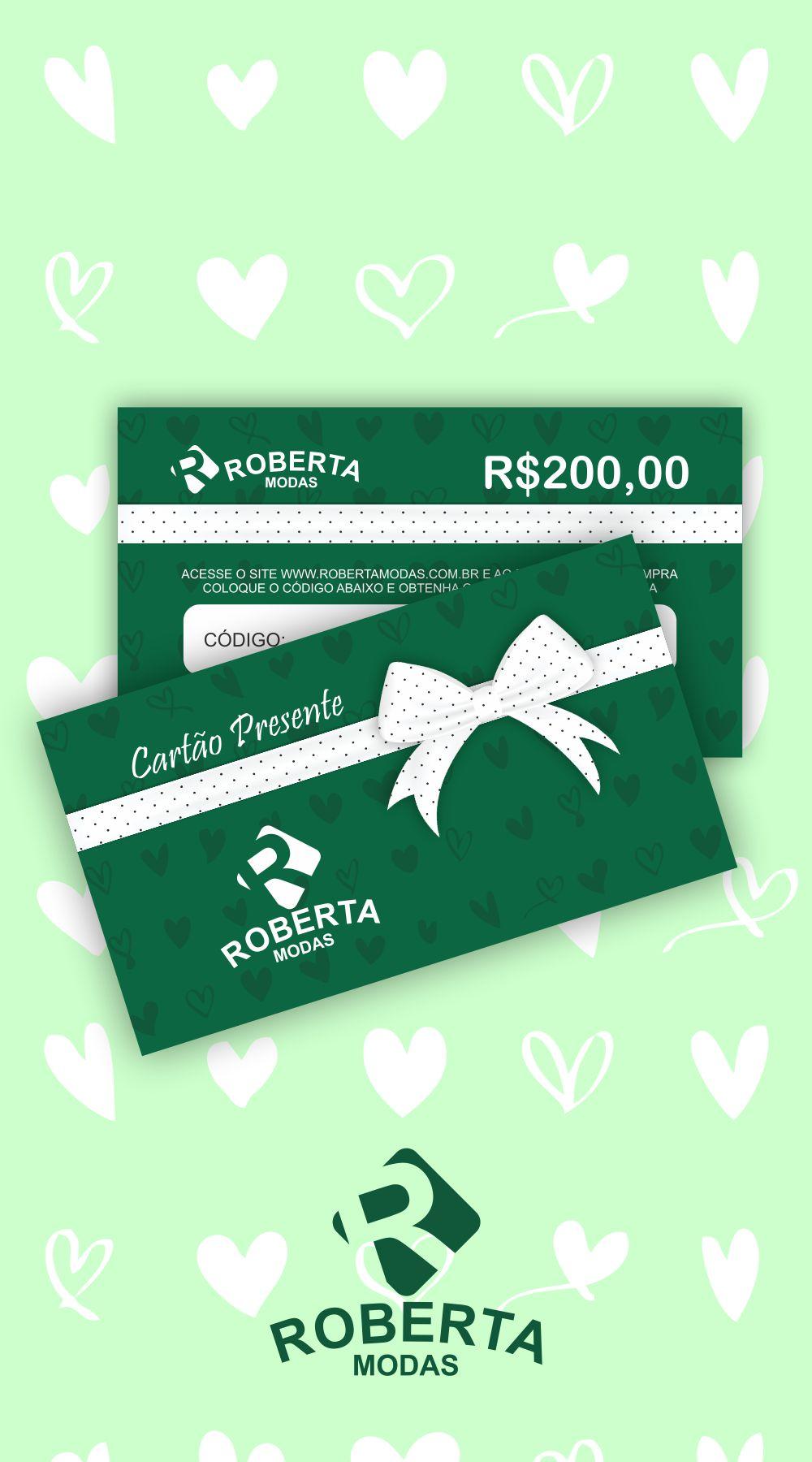Cartão Presente Valor R$200,00
