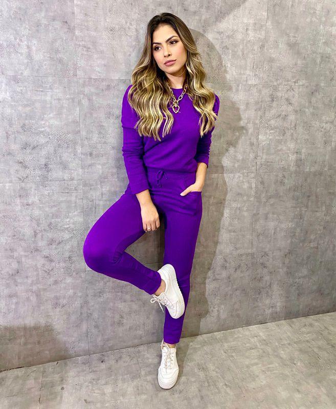 Conjunto Paloma Tricot Modal Jogger