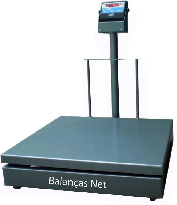 Balança Eletromecânica Digital 300kg x 100g Plataforma 80x80 Com Coluna Inmetro
