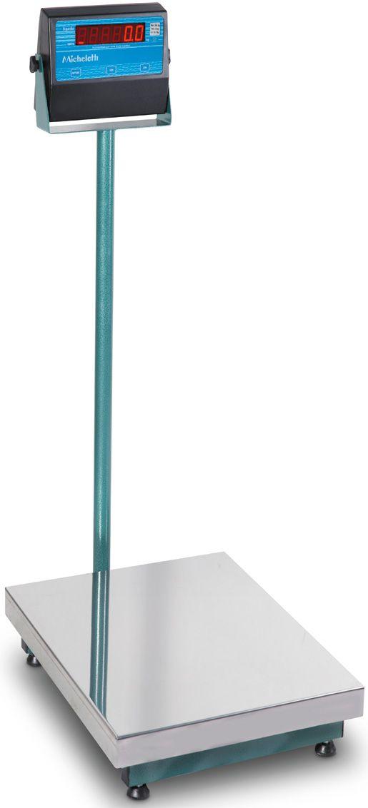Balança Eletronica 100kg X 20g Plataforma Inox 40x50 Coluna Inmetro