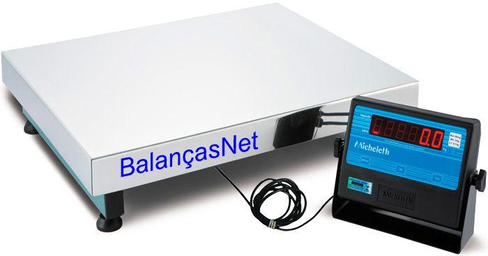 Balança Eletronica 100kg X 20g Plataforma Inox 40x50 Inmetro