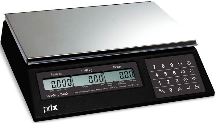 Balança Eletrônica 10kg X 2g Pesadora e Contadora de Peças Toledo Inmetro
