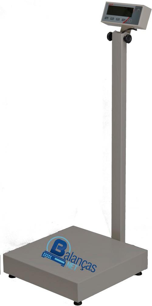 Balança Eletrônica 200kg X 50g Plataforma Carbono 50x50 Coluna Inmetro
