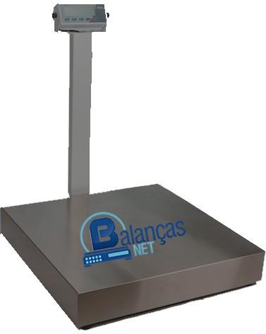 Balança Eletrônica 500kg X 100g Plataforma Carbono 70x70 Com Coluna Inmetro