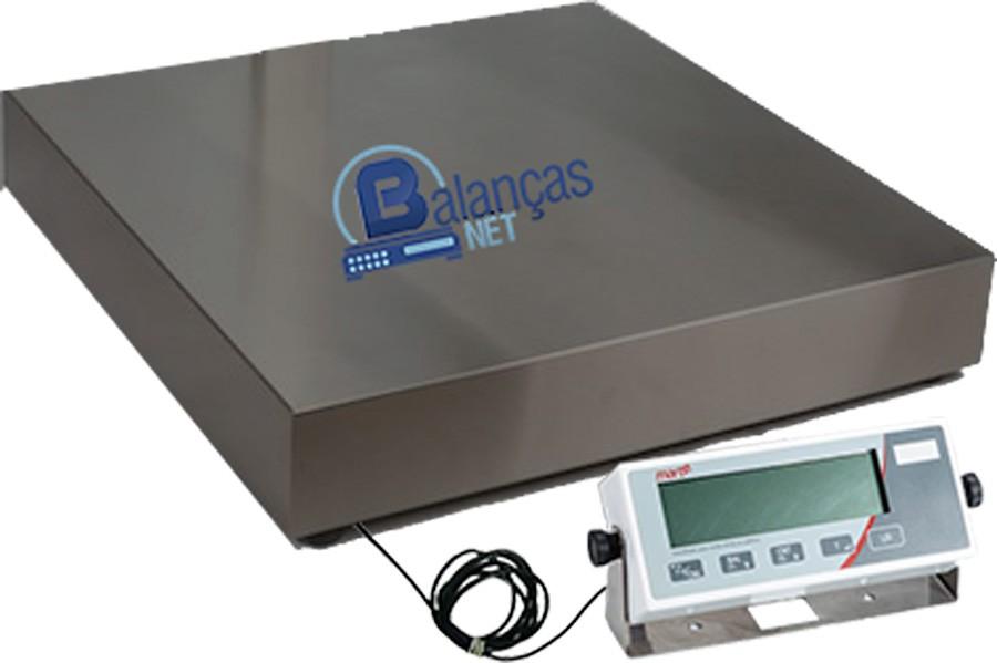 Balança Eletrônica 500kg X 100g Plataforma Carbono 70x70 Inmetro Marte