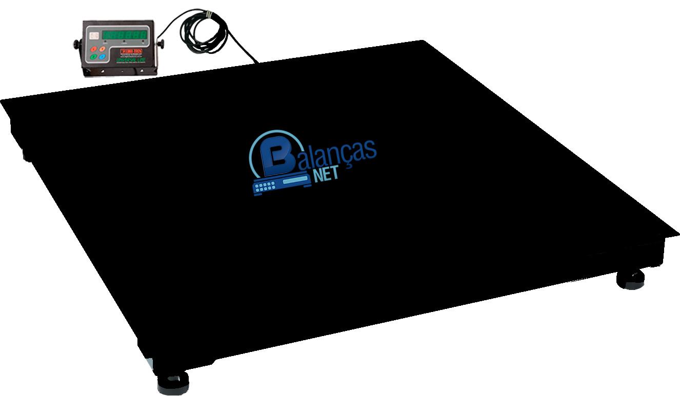 Balança Eletrônica Digital 1000kg X 200g Plataforma 1,20x1,20 Inmetro e Garantia