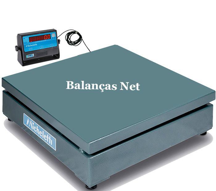 Balança Eletrônica Industrial 1000kg x 500g Plataforma 1,00x1,00 Inmetro