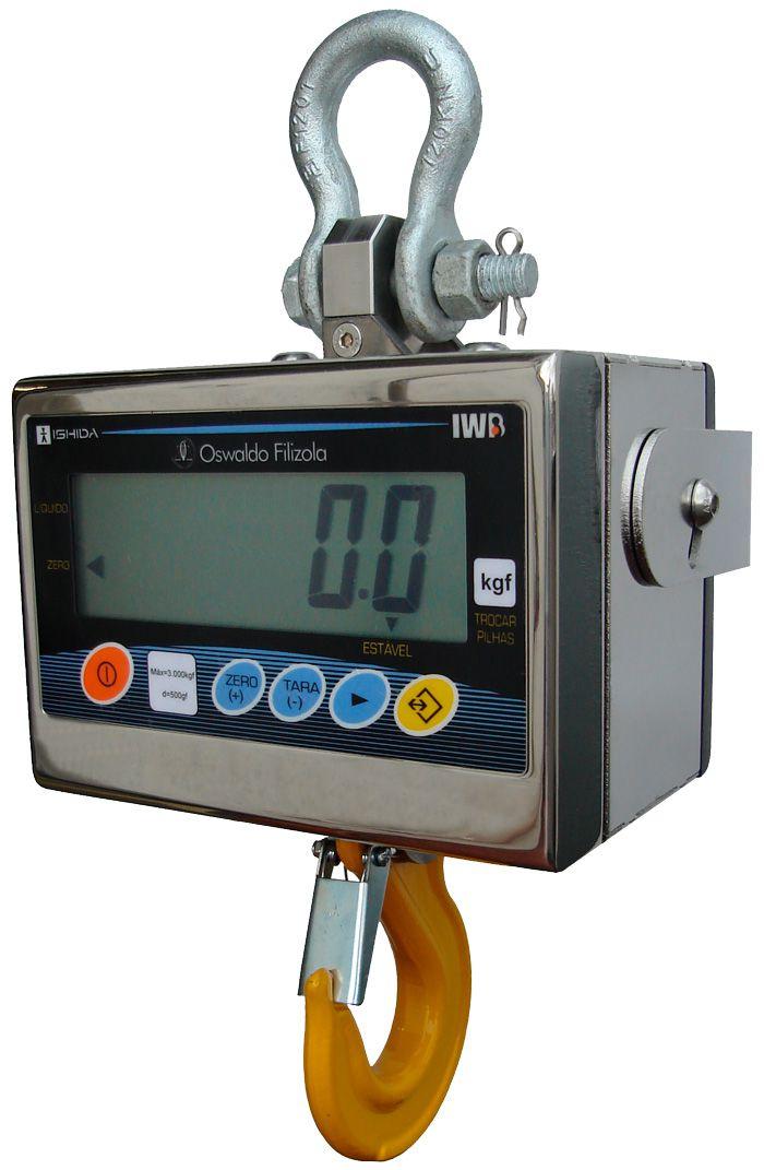 Balança Eletrônica Suspensa 3000kg X 500g Industrial Garantia E Inmetro