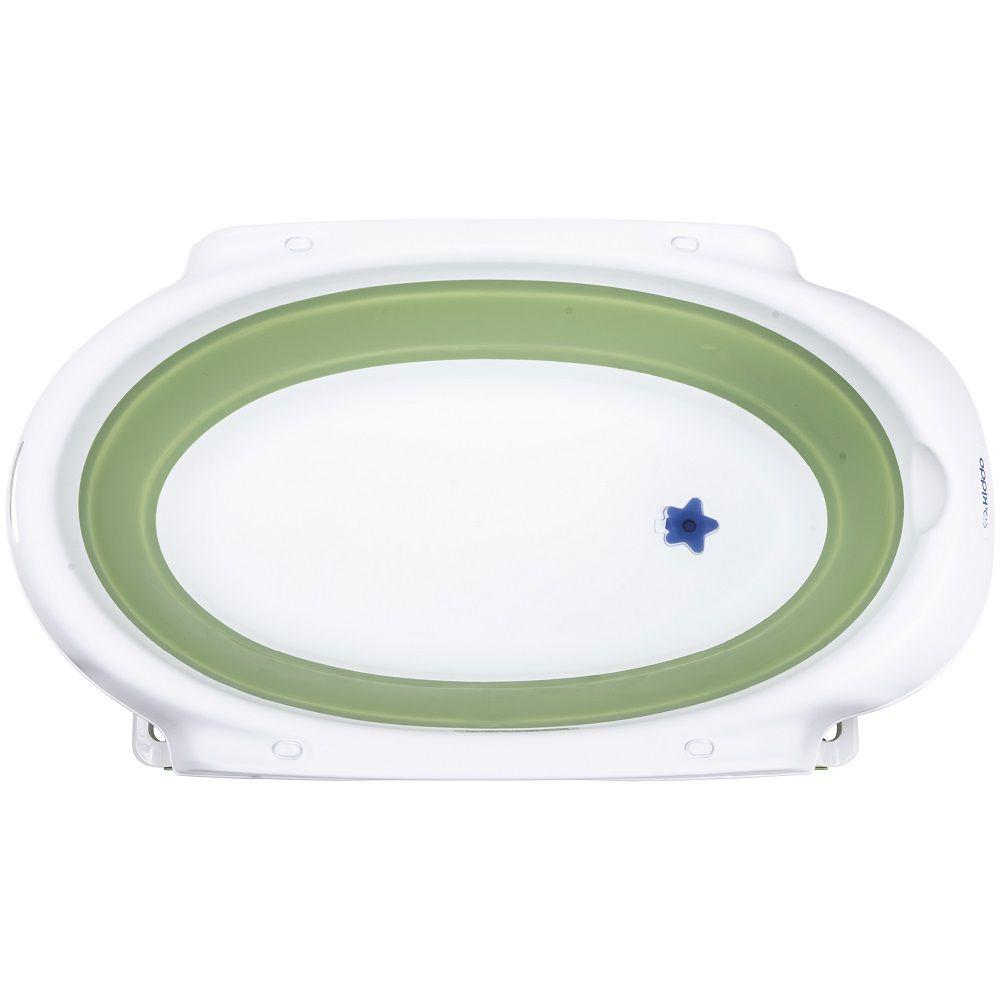 Banheira Portátil para Bebê Jelly Retrátil c/ Sensor de Temperatura Kiddo Verde