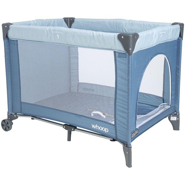 Berço Cercado Portátil Desmontável Mosquiteiro Playground Amuse Kiddo Azul