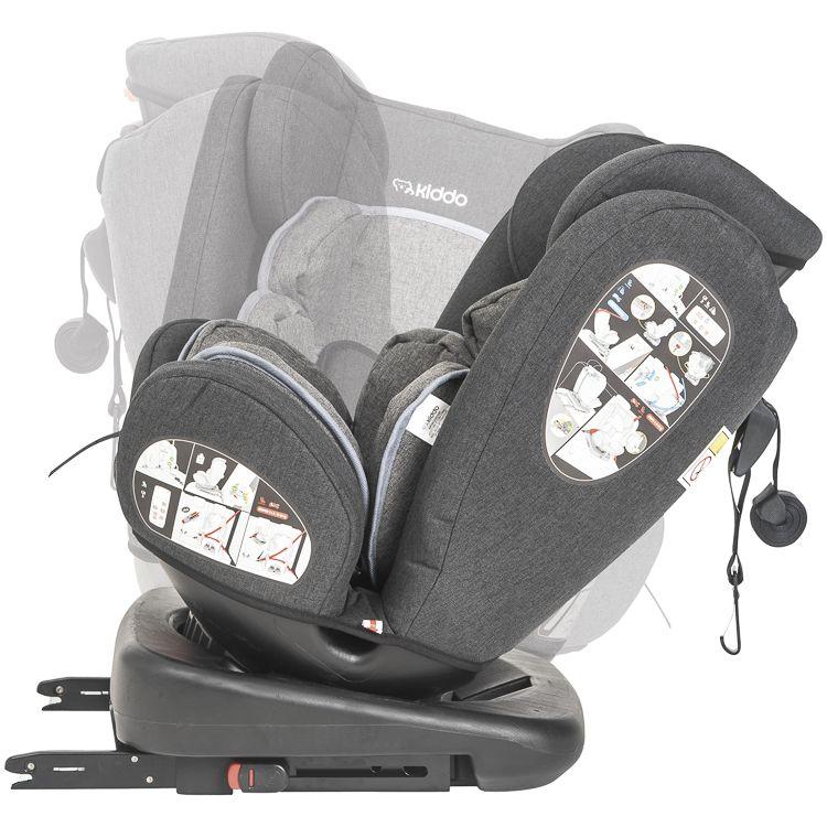 Cadeira Auto Bebê Giro 360º Isofix 0 À 36kg Kiddo Inmetro PP