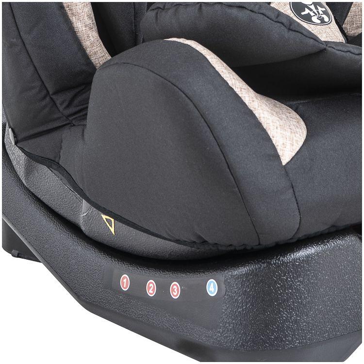 Cadeira Auto Grow 0 À 36kg Inclinação Inmetro Kiddo Preto c/ bege