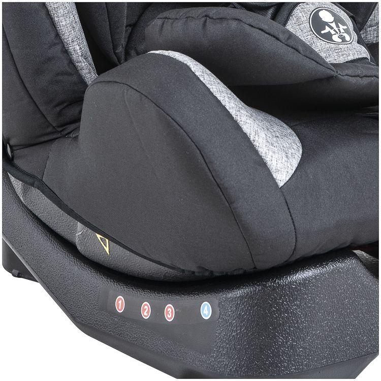 Cadeira Auto Grow 0 À 36kg Inclinação Inmetro Kiddo Preto c/ Cinza