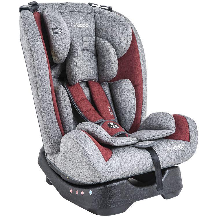 Cadeira Auto Grow 0 À 36kg Inclinação Inmetro Kiddo Vermelho c/ Cinza
