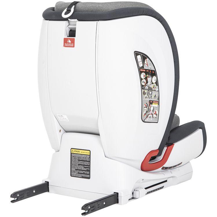 Cadeira Auto Mars Isofix 9 À 36kg Inclinação Kiddo Cinza GR