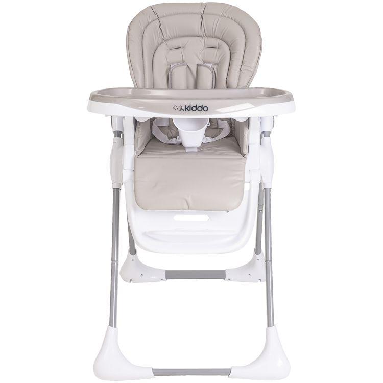 Cadeira De Alimentação P/ Bebê Reclinável Smile Kiddo Bege