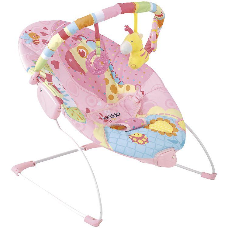 Cadeira De Descanso Bebê c/ Balanço Joy Rosa Kiddo
