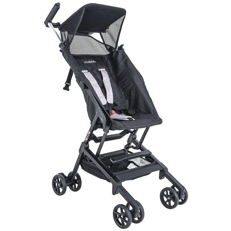 Carrinho De Bebê Passeio Alumínio Nano Portátil Bolsa Preto c/ Cinza Kiddo