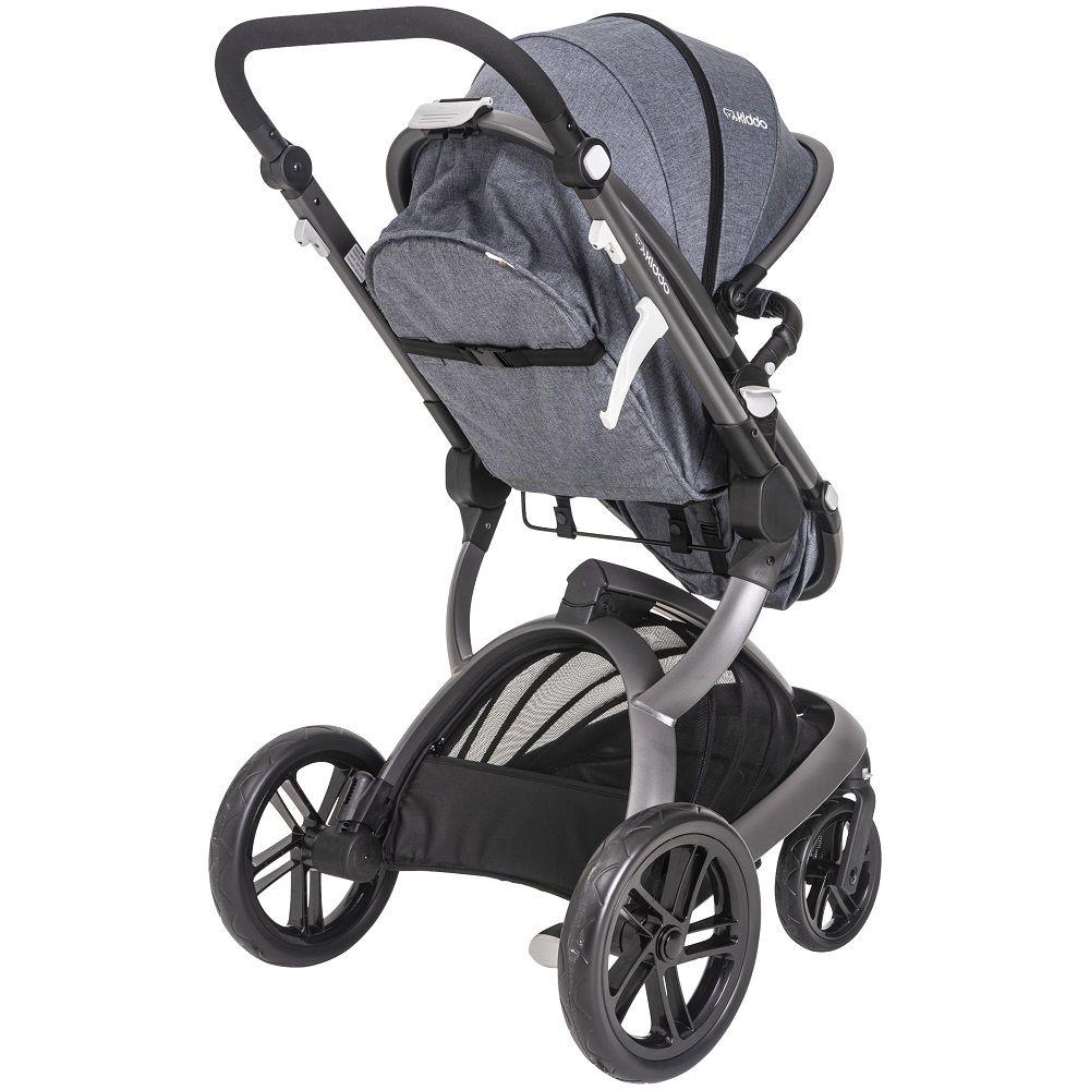Carrinho Travel System Moisés Quantum + Bebê Conforto E Base Kiddo Marinho