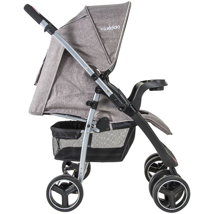 Carrinho Travel System Zap Reversível + Bebê Conforto Capuccino Kiddo