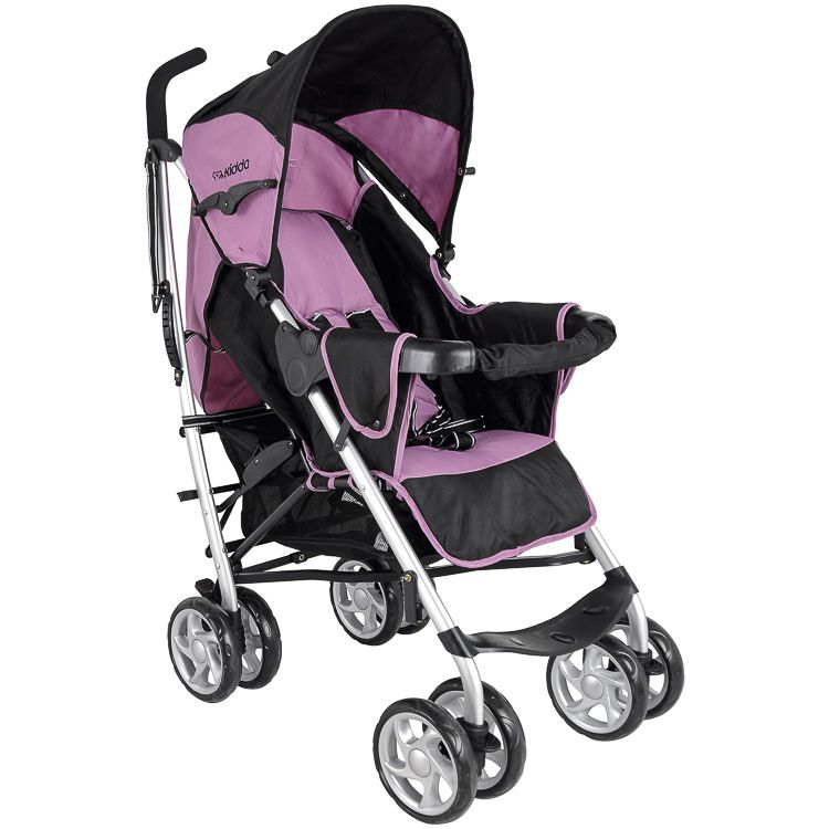 Carrinho Travel System Cross + Bebê Conforto Kiddo Rosa