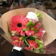 Bouquet Alstroemeria e Gérbera Rosa