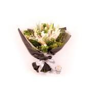 Bouquet Lírio Branco Misto