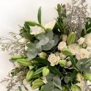 Bouquet Rosa e Lírio branco Grande